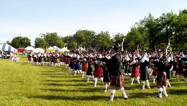 photo of massed bands