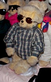 Nick Bearskill in Plaid Shirt and Shades