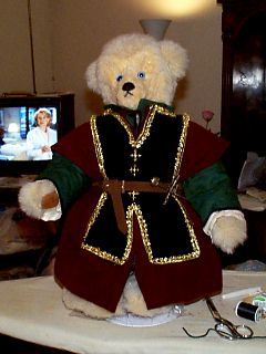 Bear of Harps in Chemise, Tunic, Overtunic, and Tabard