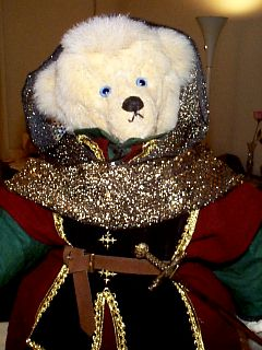 Close-Up: Bear of Harps with Hood Drawn Up